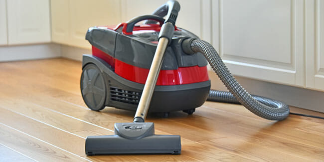 Canister Vacuum Cleaners  in the kitchen